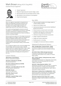 Mark Brown CV